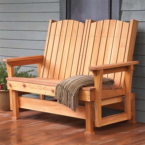 Easy Breezy Glider Woodworking Plan From Wood Magazine Outdoor Patio Furniture Plans