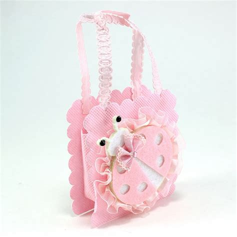 Baby Shower Favor Bags maple craft fabric mesh small portable baby shower favor