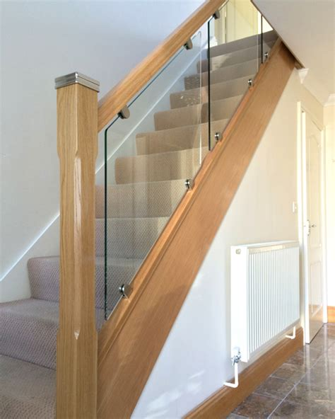 stair banister glass glass on bracket staircases the stair glass company wirral liverpool