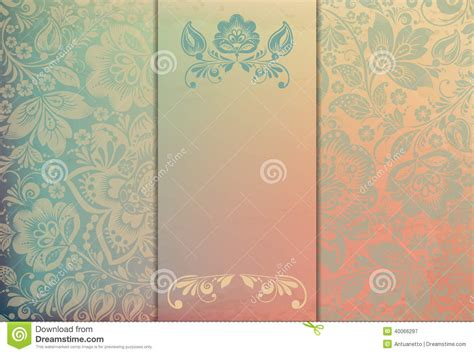 floral background template vector illustration stock