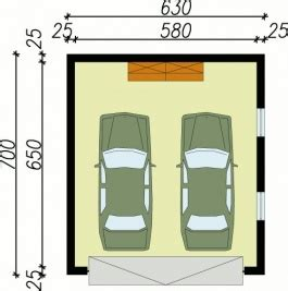 Dimensions Two Car Garage Garage G30 Ossature Bois Cr 233 Pis Garage Double 44 M2