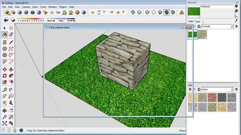 vray sketchup displacement tutorial sketchup vray grass with displacement youtube