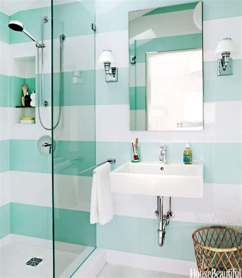 aqua bathrooms 01 hbx aqua and white striped bathroom free 0612 xln dwell beautiful