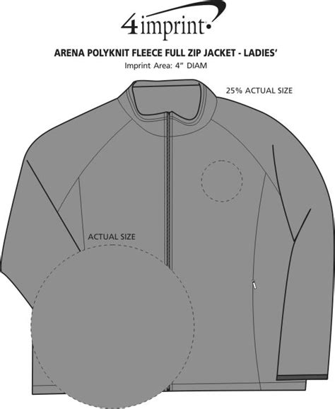 section 80 zip 4imprint com arena polyknit fleece full zip jacket