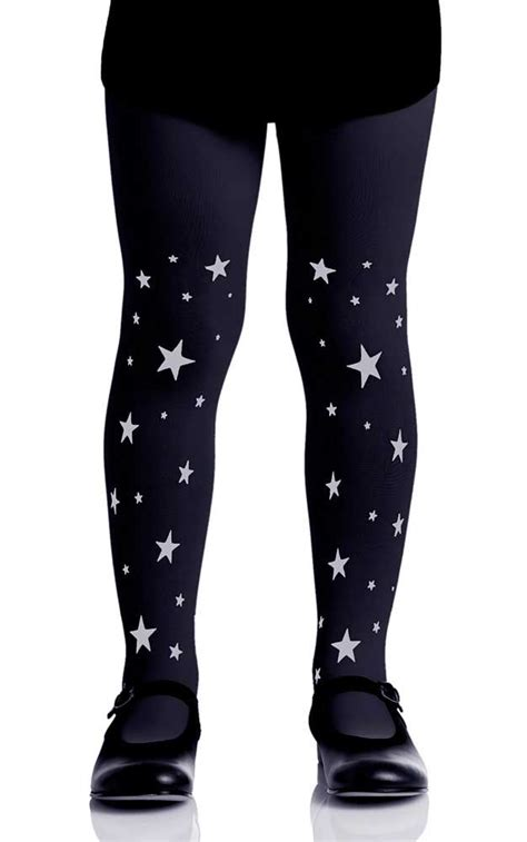patterned tights black dress stars patterned girls tights black grey kids tights