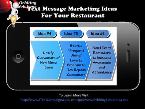 mobile marketing for restaurants mobile text message marketing for restaurants