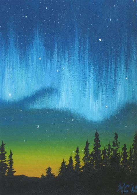 bob ross northern lights painting for sale 80 best images about paintings northern lights on