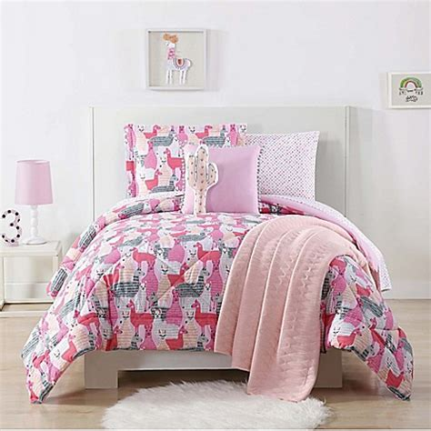 pink twin xl comforter buy laura hart kids llama twin xl comforter set in pink