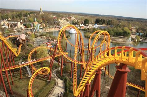 theme park france goudurix roller coaster parc asterix france 35 km north