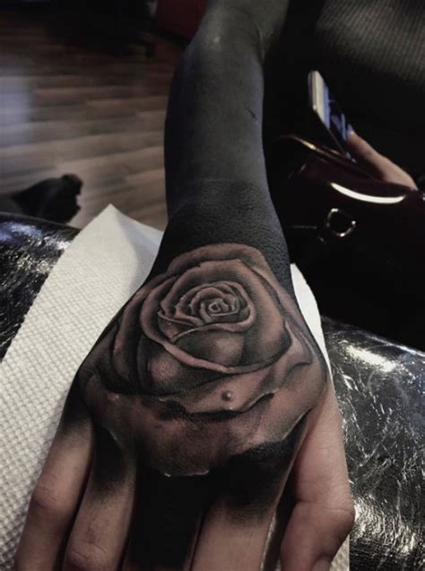 detailed rose tattoos blackwork style detailed on sleeve