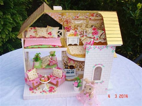 sylvanian decorated fairy cottage sylvanian tiny dolls diy dollhouse sylvanian families