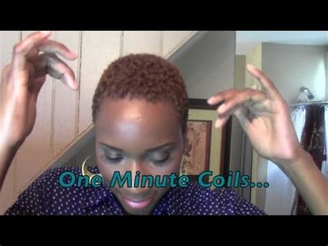 how to coil short natural hair step by step tutorial 1 minute coils short hair don t care youtube