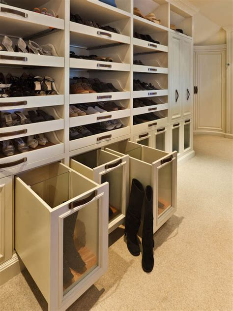 closet boot racks design ideas