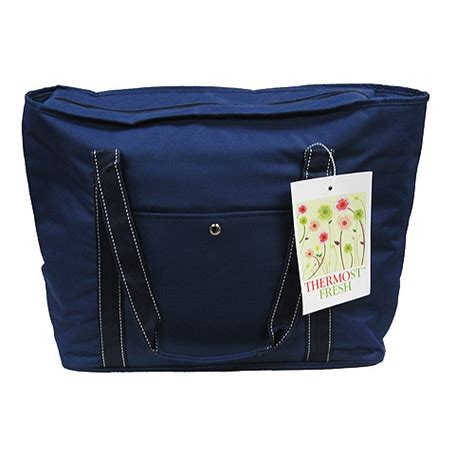 quest eco friendly insulated grocery bag navy walmart