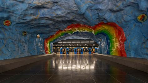Train Murals For Walls stockholm s metro stations are the coolest in the world