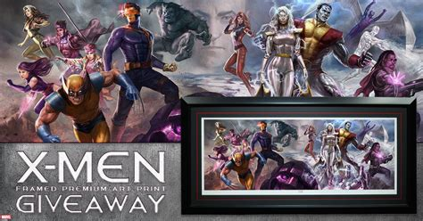 x men framed premium art print giveaway sideshow collectibles - Print Giveaway