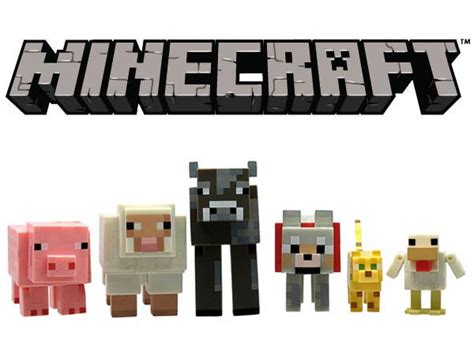 amazoncom minecraft animal toy  pack toys games