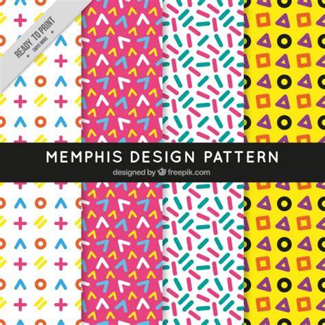 Memphis Pattern Ai   memphis design pattern vector free download
