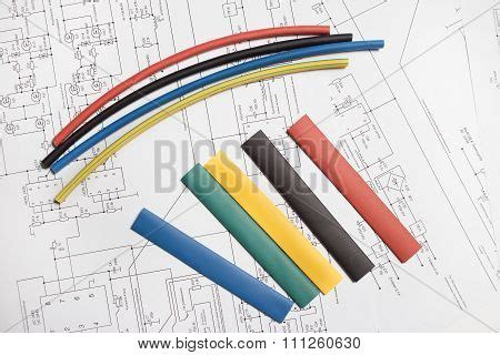 colored heat shrink tubing colored heat shrink tubing image photo bigstock