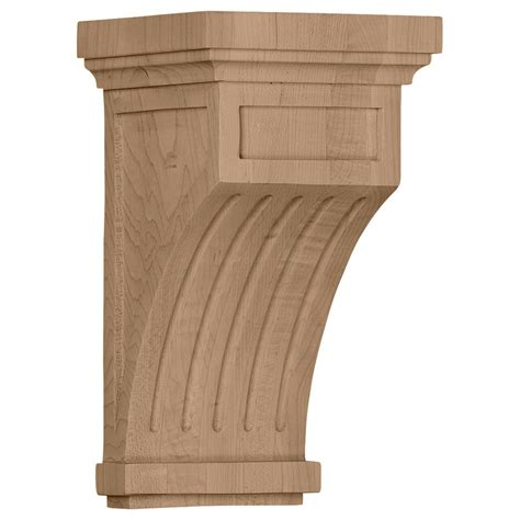 Corbels Lowes Shop Ekena Millwork 5 5 In X 10 In Cherry Wood Corbel At