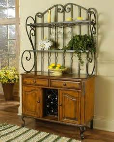 Bakers Rack With Cabinet Baker Rack Decor On Bistro Credenzas