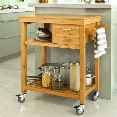 Kitchen Cart With Shelves by Sobuy 174 Kitchen Trolley With Shelves Drawers Kitchen