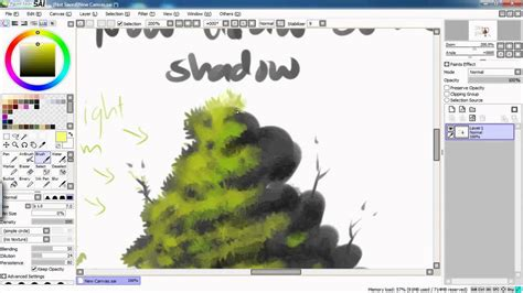easy paint tool sai extended textures brushes how to draw a tree leave with sai