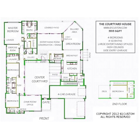 House Plans Pictures Bedrooms Houseplans Biz House Plan Free House Plans With Courtyards