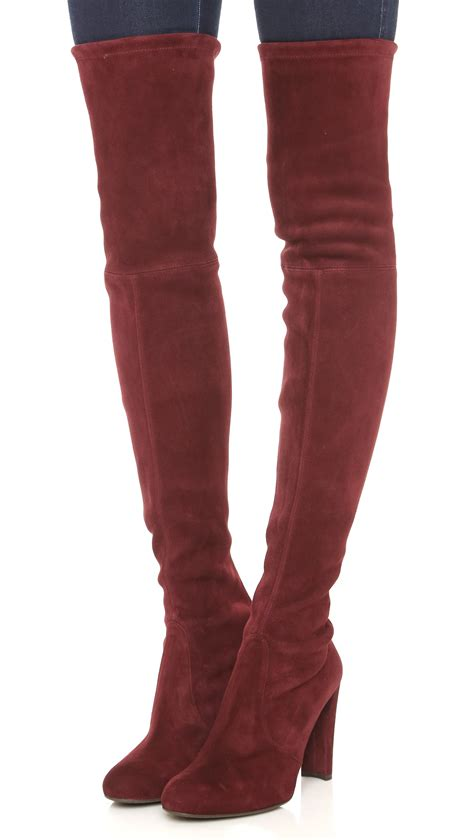 Sepatu Boots Stuart Weitzman lyst stuart weitzman highland the knee boots topo