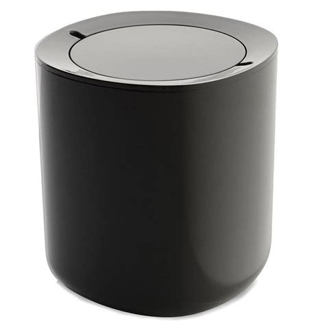 Modern Bathroom Trash Can With Lid Alessi Birillo Modern White Bathroom Waste Bin With Lid