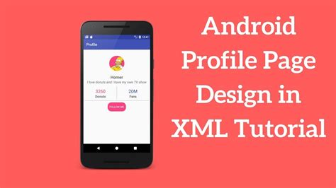 Android Xml Tutorial by Android Profile Page Design In Xml Tutorial Demo