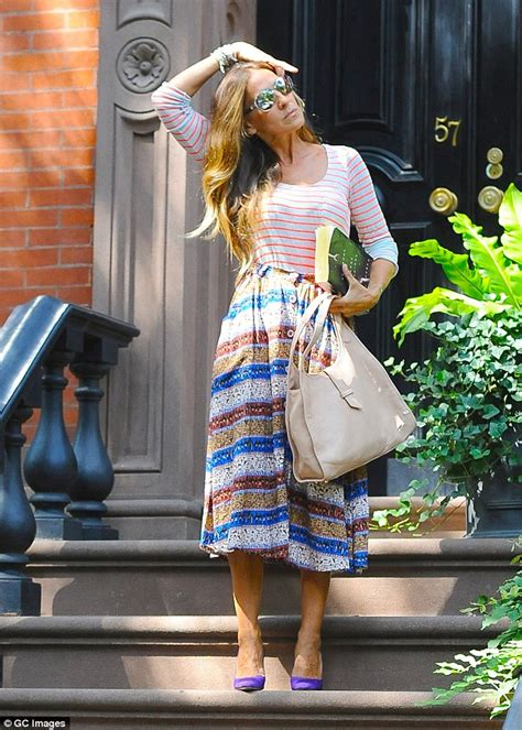 House Blue Print Sarah Jessica Parker Displays Her Impeccable Style In