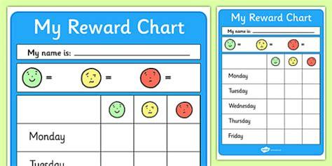 editable reward chart reward chart reward behaviour