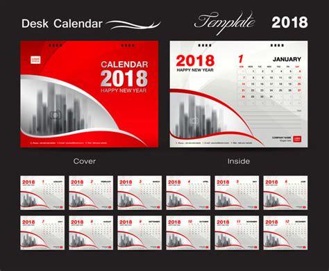 calendar design templates free download desk calendar 2018 template design red cover set of 12