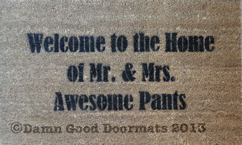 Awesome Doormats by Home Of The Duke Dutchess Of Awesome Novelty Doormat
