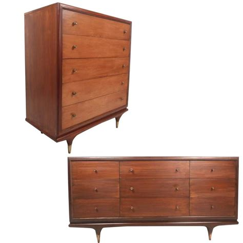 mid century modern bedroom set by kent coffey for sale at