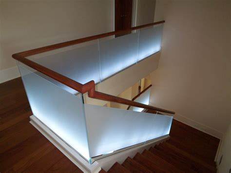 glass banister for stairs interior elegant glass stair railing home stair design