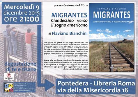 libreria roma pontedera tre libri per tre giorni alla libreria roma migranti