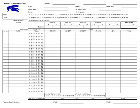 Basketball Score Sheet Template Excel by Best Photos Of Basketball Score Sheets Excel Basketball