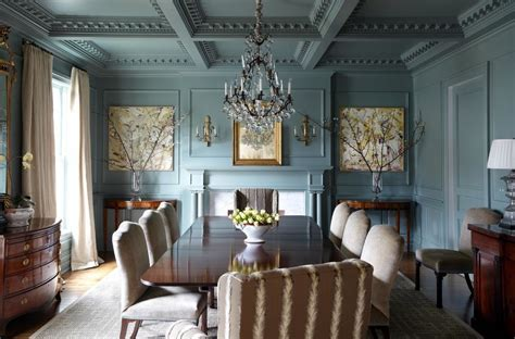 blue green paint dining room traditional with gilded