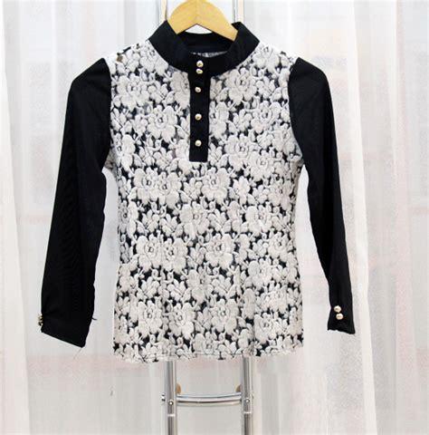 Baju Wanita Blouse Hitam Brokat 1 blouse wanita hitam brokat model terbaru jual murah