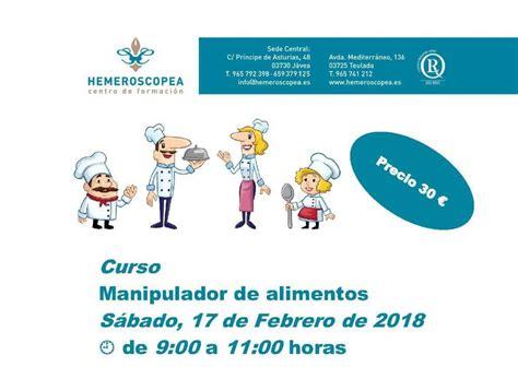 carnet de manipulador de alimentos  cursos de fpe hemeroscopea