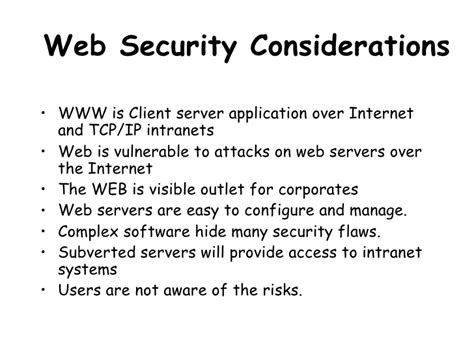 web security web security