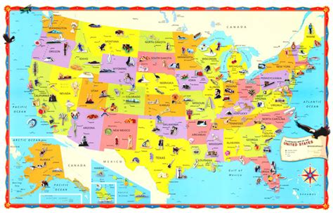 us map for kid the children s united states us usa wall map 32x50