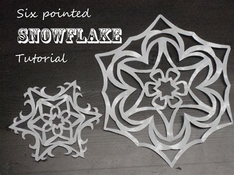 How To Make A 6 Pointed Paper Snowflake - eme my tutorial six pointed snowflakes