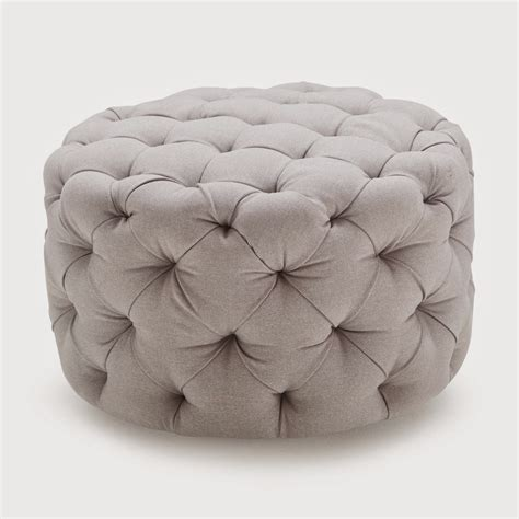 circular tufted ottoman tufted ottoman round red images
