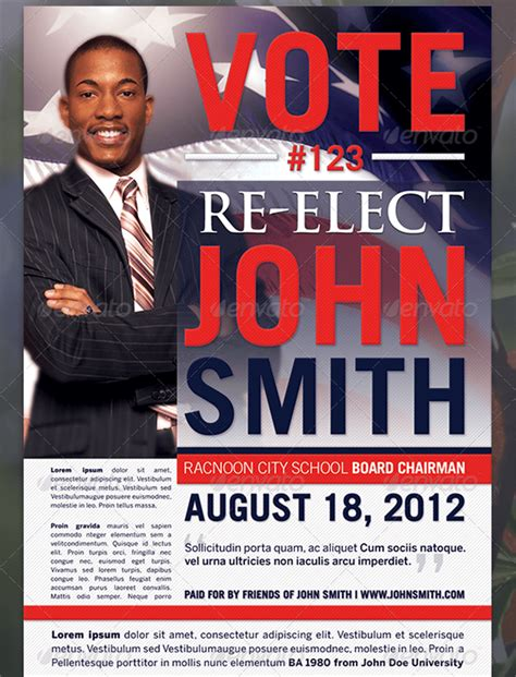 political brochure template flyers for school board election event flyer www