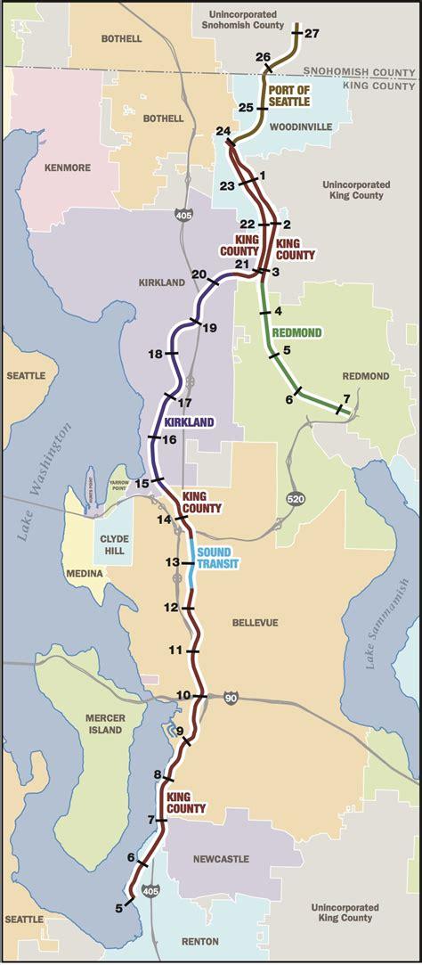 seattle map kirkland kirkland gets go ahead to remove tracks from key rail