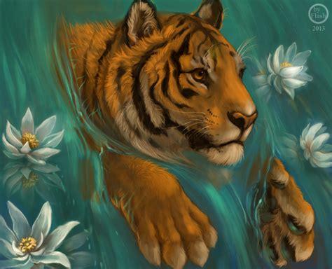 lotus tiger digitally delicious october 9th by thiefoworld on deviantart