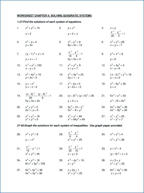 printables of factoring quadratic equations worksheet with
